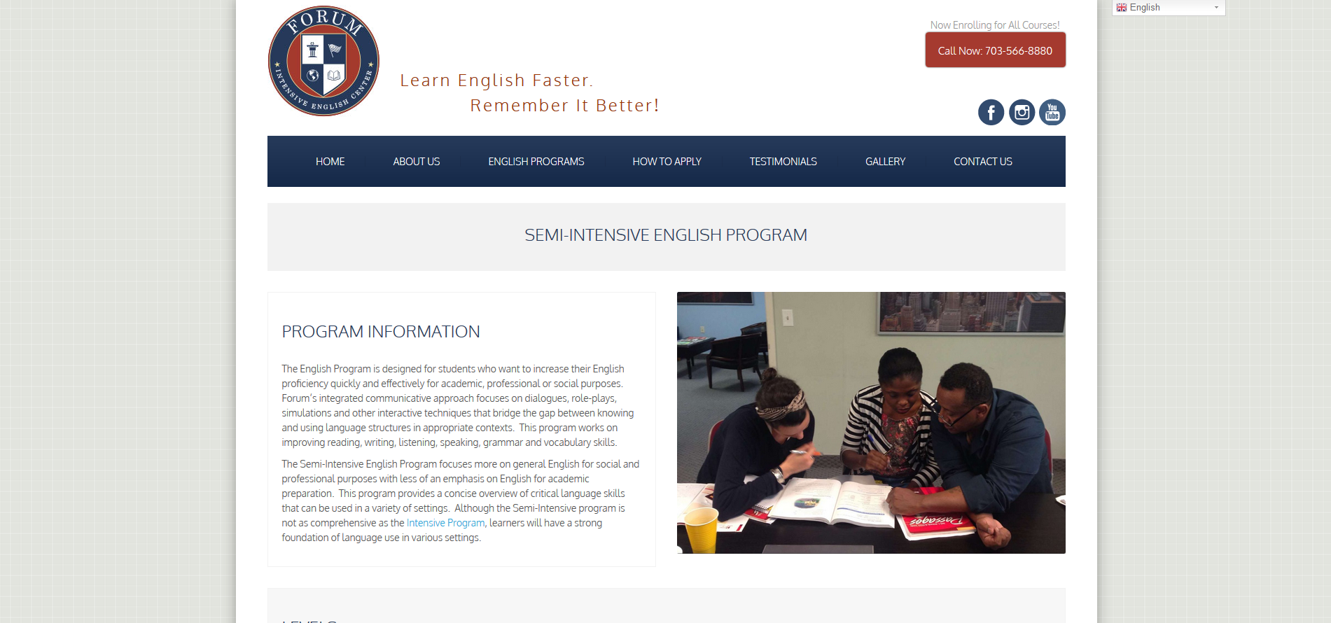 Forum-Intensive-English-Center-program