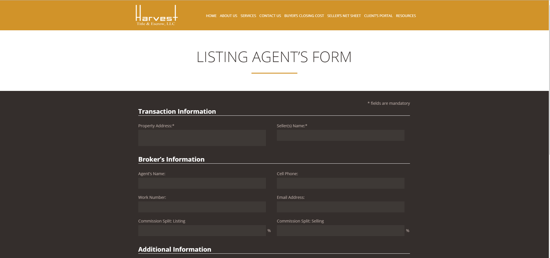 Harvest-Title-listing-agent