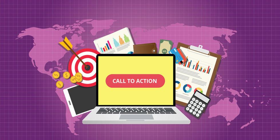 49993033 – call to action traffic data goals graph money technology vector