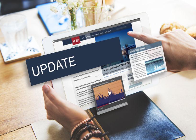 57931174 – update trends report news flash concept